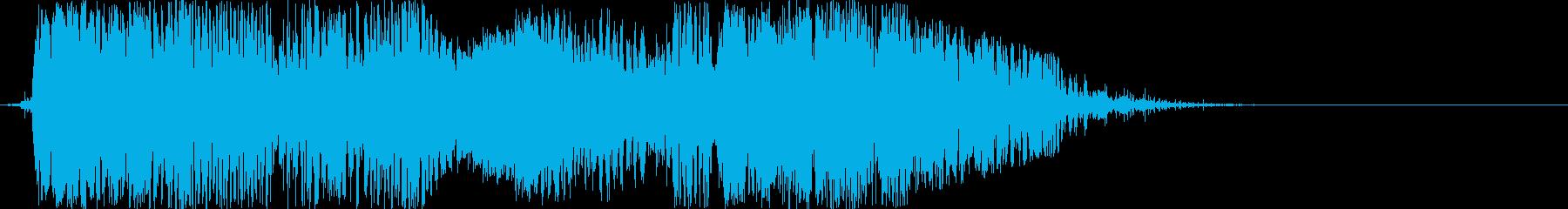 ジジジジジ!感電の時の効果音 電撃の再生済みの波形