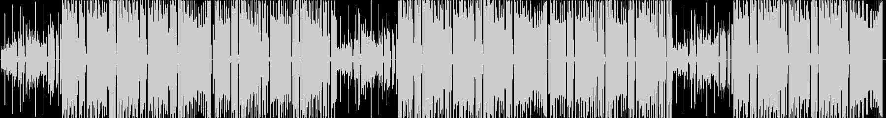 サウンドの賑やかなビートの未再生の波形