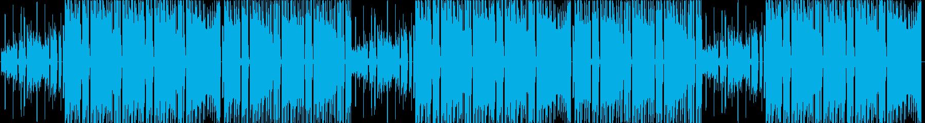 サウンドの賑やかなビートの再生済みの波形