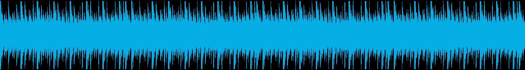 実験・理科をイメージしたシンプルなループの再生済みの波形