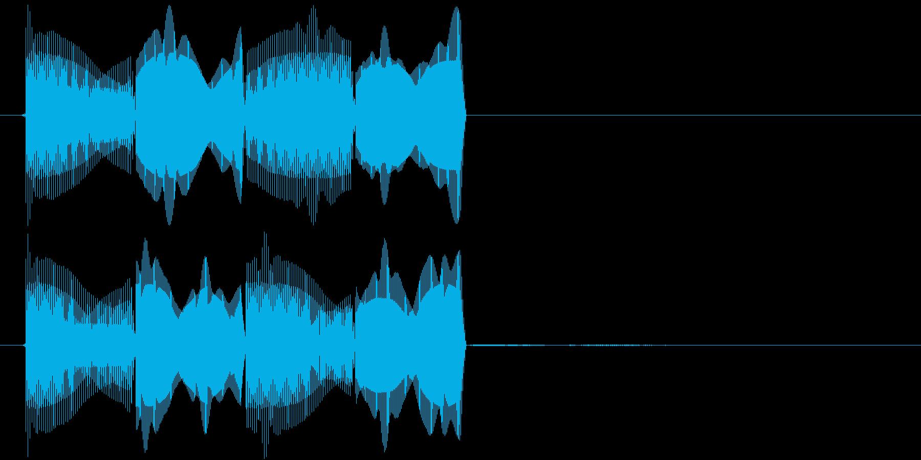 ピコピコ(エラー・アラート音)の再生済みの波形