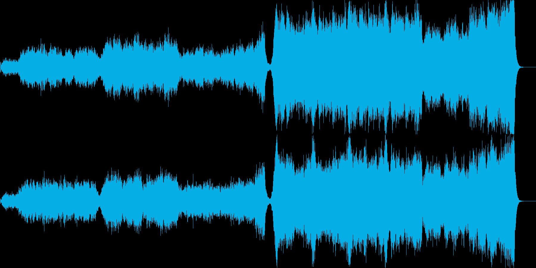 感動的な場面を意識したオーケストラの再生済みの波形