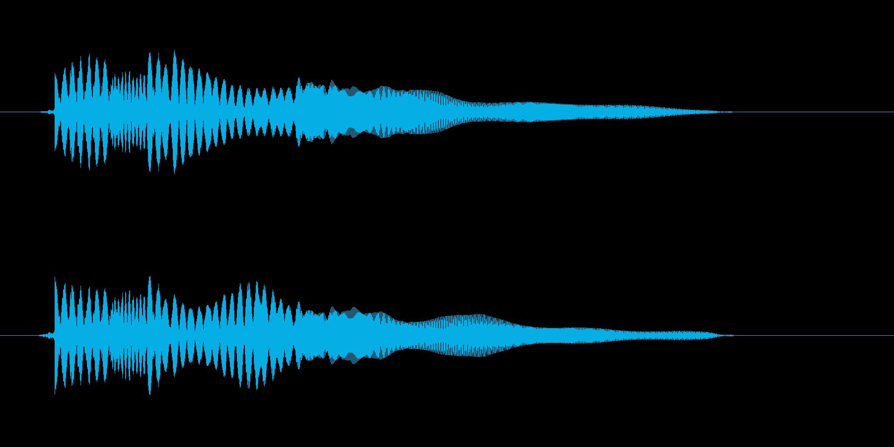 能力が下がる音の再生済みの波形