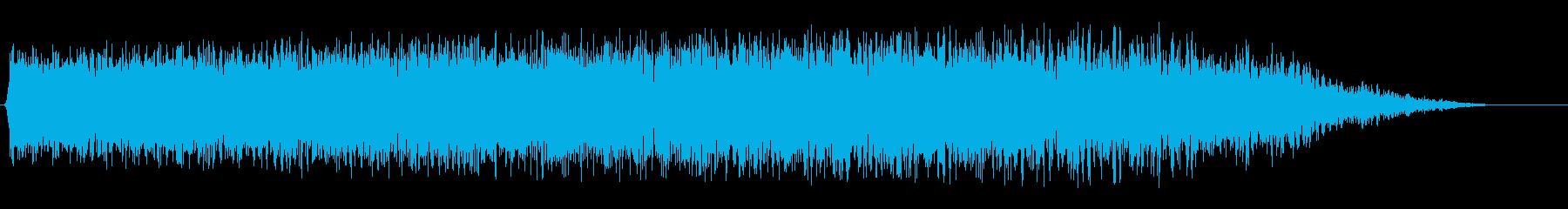 ジューーッ!飛行機等の風を切る音の再生済みの波形