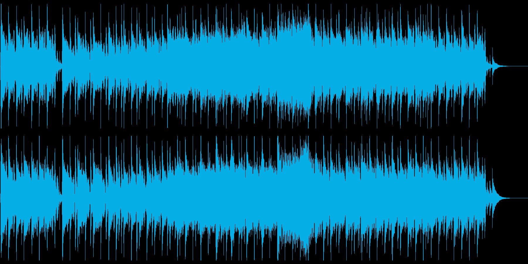 かわいい雰囲気の3拍子ポップスの再生済みの波形