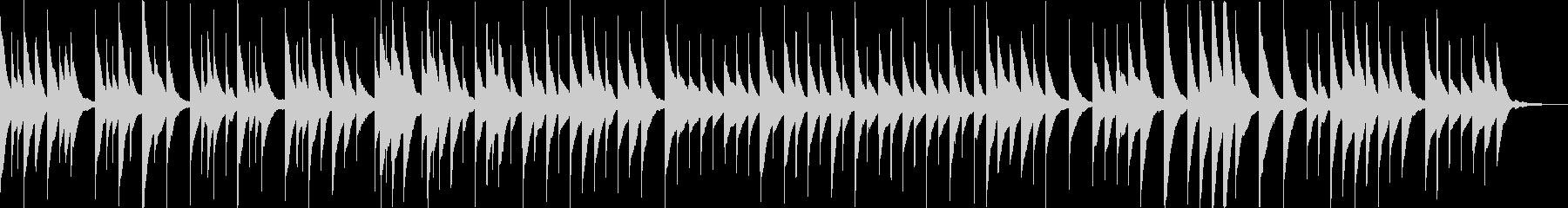 明るめの優しいオルゴールBGMの未再生の波形