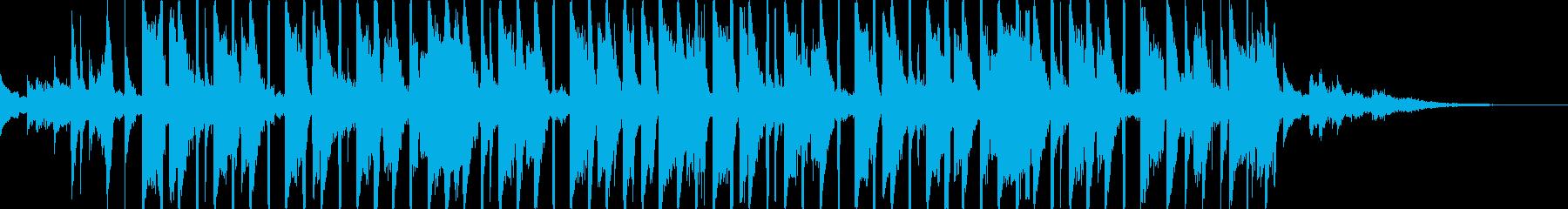 バラエティ番組に最適なほのぼの系明るい曲の再生済みの波形