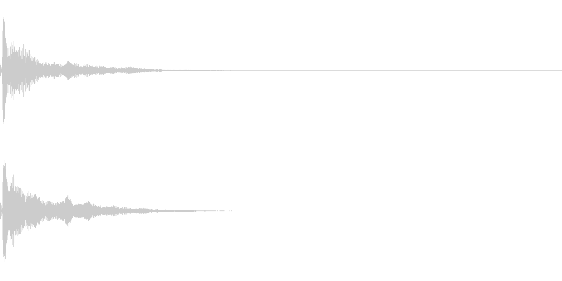 ピローン(クリック音・アプリ・決定音)の未再生の波形