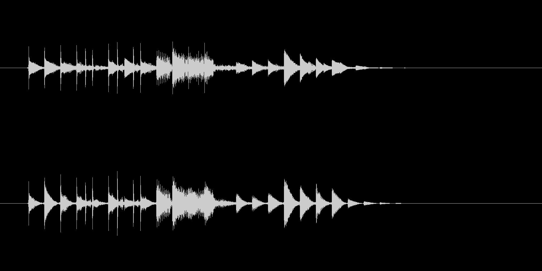 近未来や宇宙感のあるシンセサウンド短めの未再生の波形