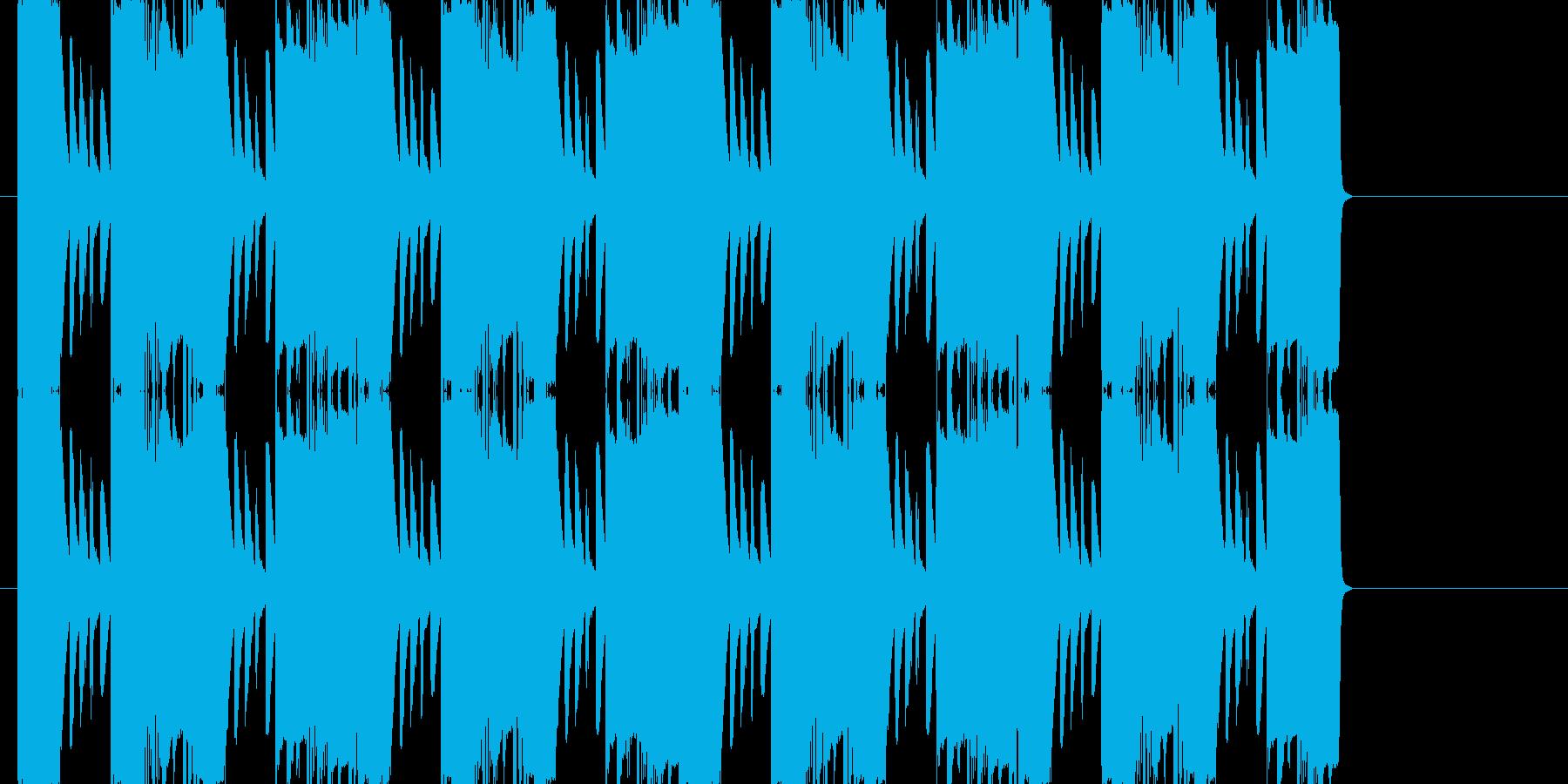フリーゲームのイントロっぽい曲の再生済みの波形