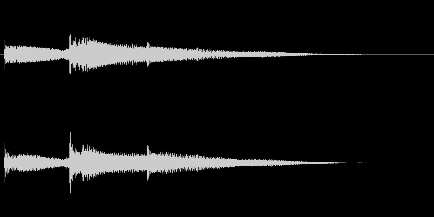 シンプルなコイン取得音(低音)の未再生の波形