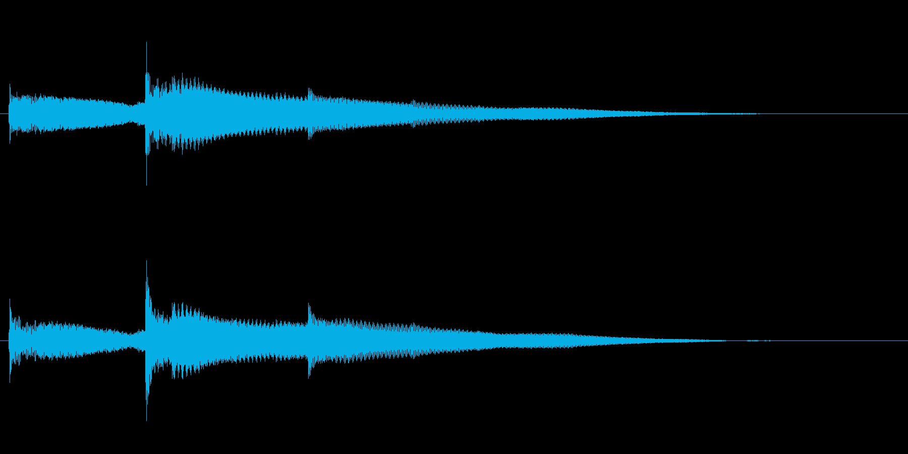 シンプルなコイン取得音(低音)の再生済みの波形