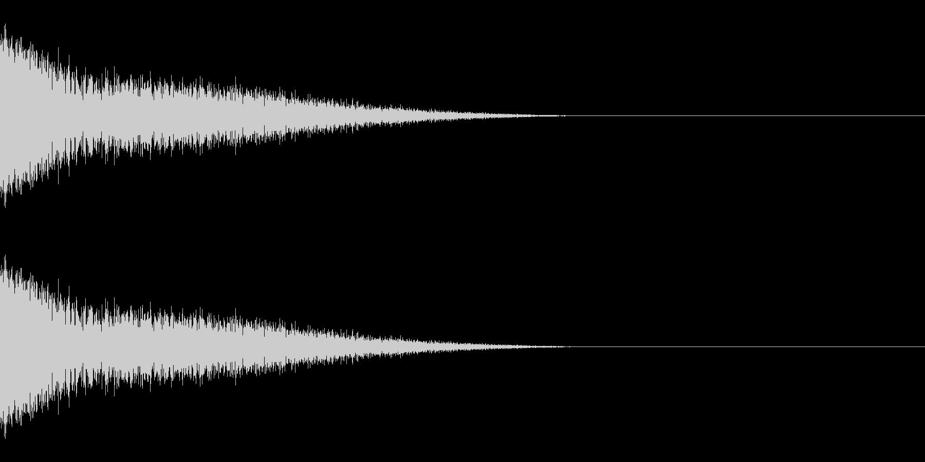 ザシューッ(斬撃/ジャンプ/強攻撃)の未再生の波形
