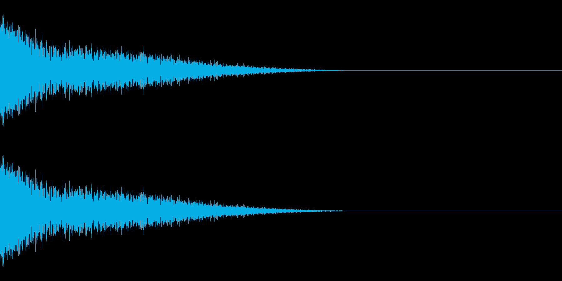 ザシューッ(斬撃/ジャンプ/強攻撃)の再生済みの波形
