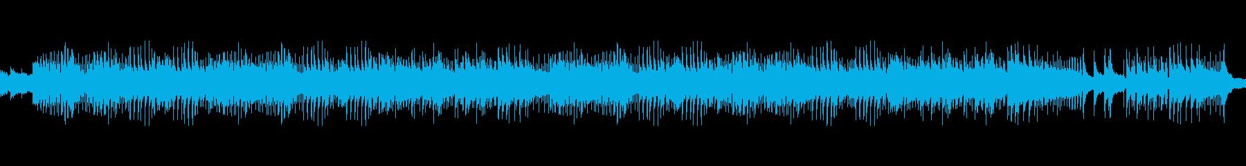 爽快なピアノとストリングスの混ざりの再生済みの波形