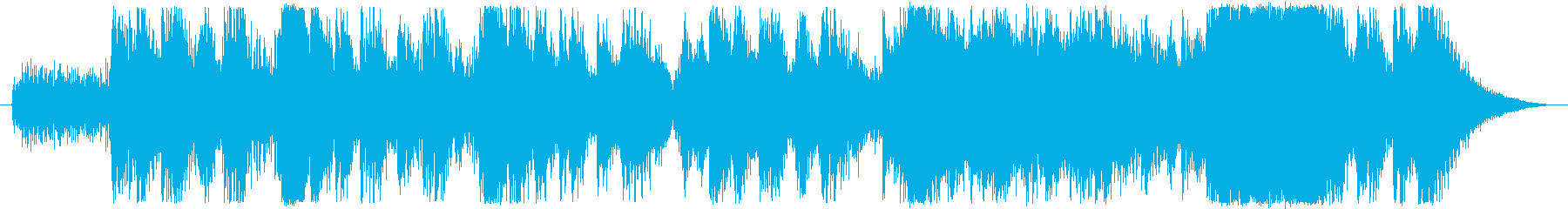 オーケストラアレンジの緊迫した曲の再生済みの波形