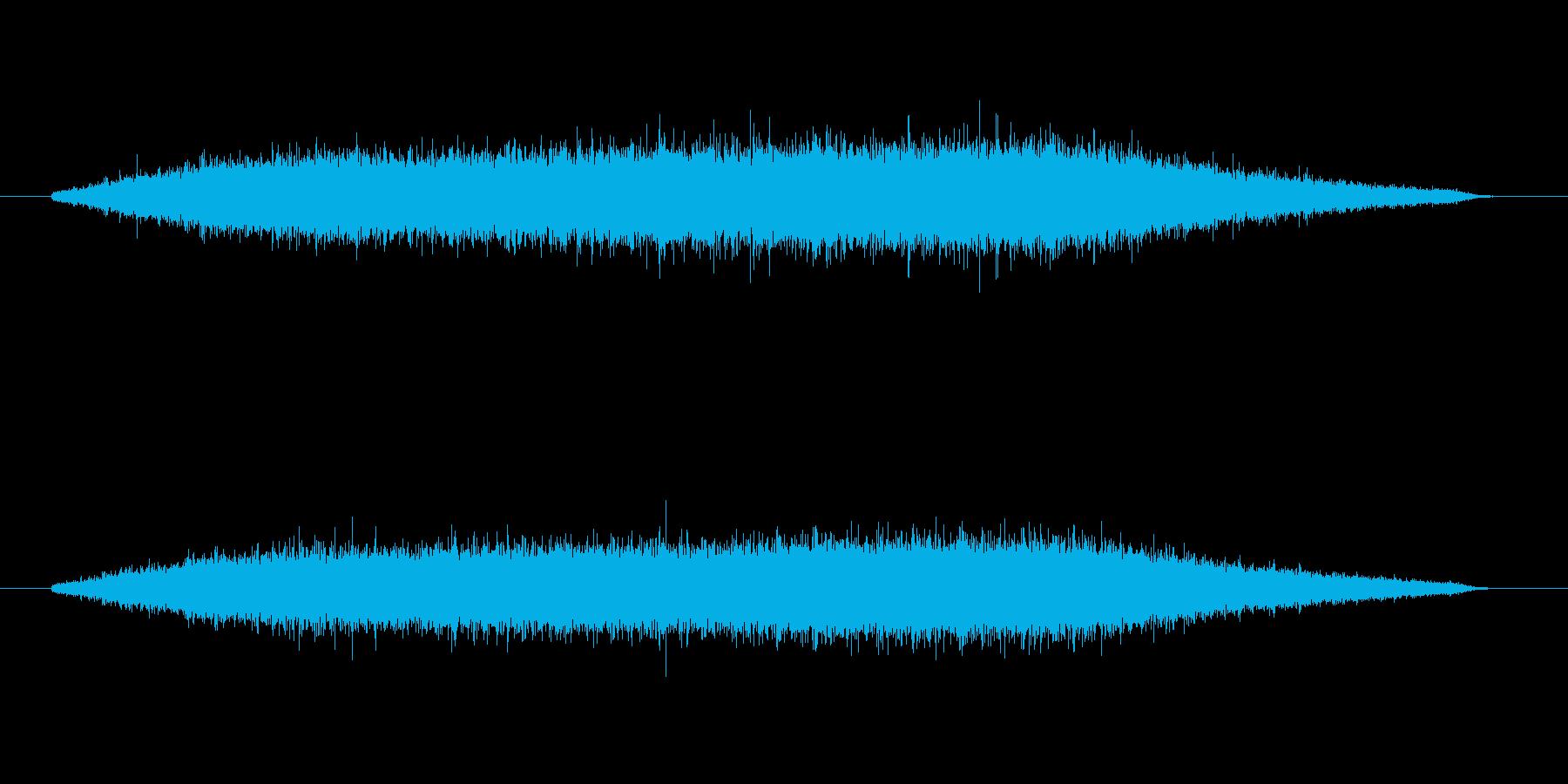 雨音の再生済みの波形