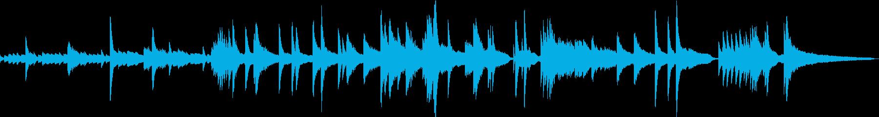 前衛的なピアノ曲。短いので印象付けに。の再生済みの波形
