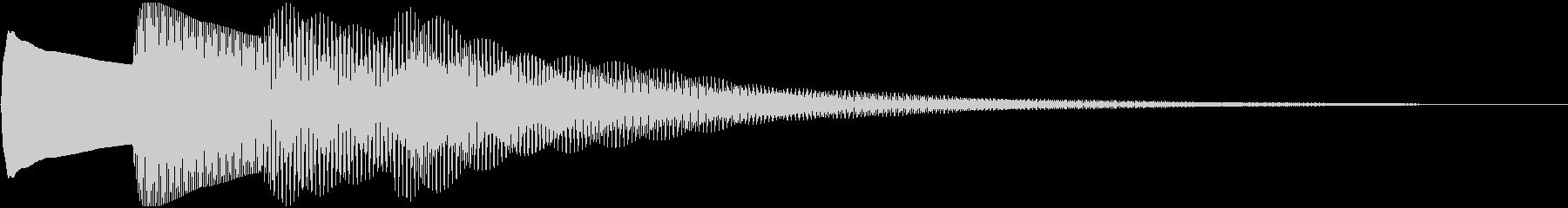 ピンポンパンポン(お知らせ終わり)の未再生の波形