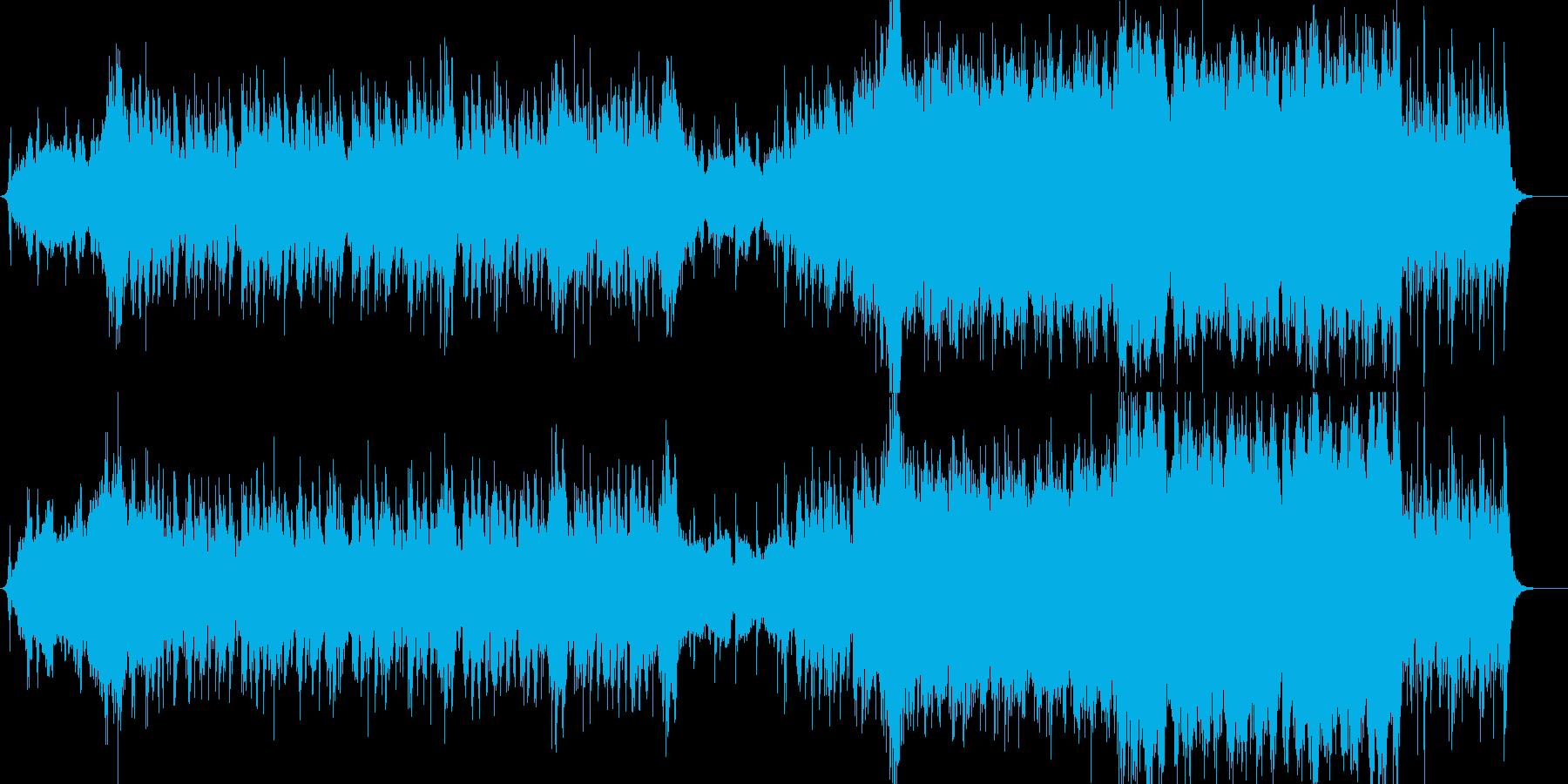 戦場・戦闘・荒廃した雰囲気のあるBGMの再生済みの波形