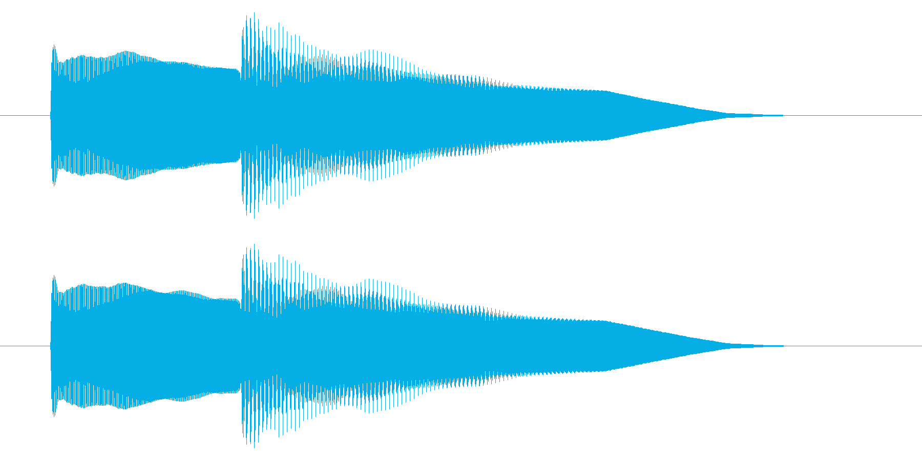 改札 アラーム01-5(音色1)の再生済みの波形