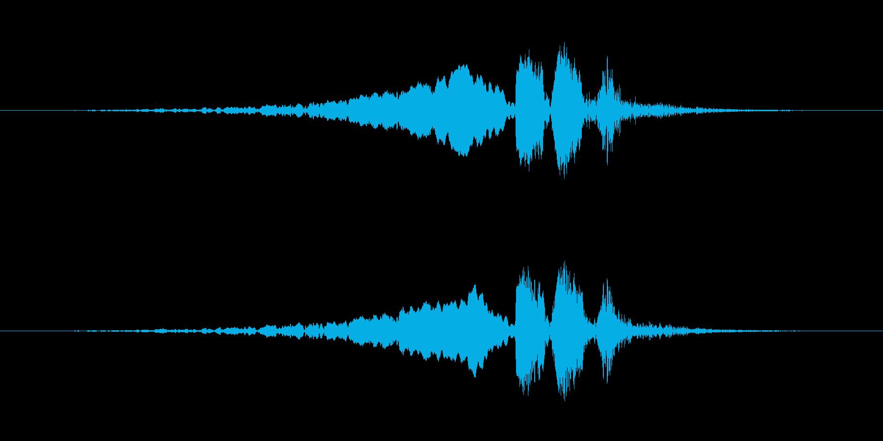 【ウグイス 合成01-4】の再生済みの波形