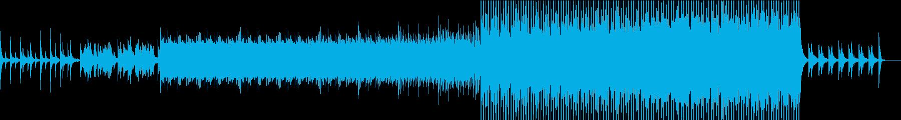 決意のピアノ曲の再生済みの波形