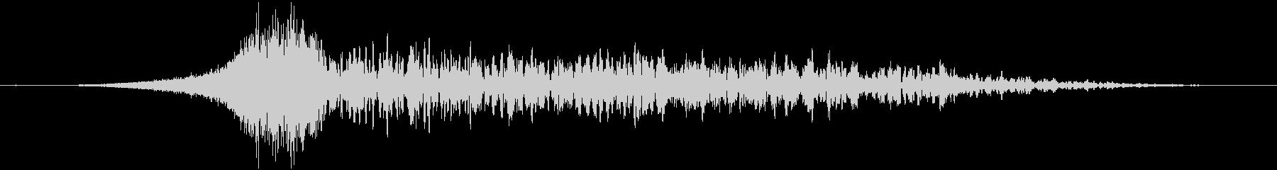 シューンどん:上昇して爆発する音の未再生の波形
