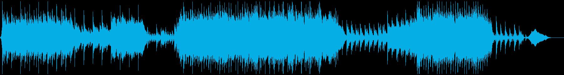【メロなし】壮大で感動的な和風BGMの再生済みの波形