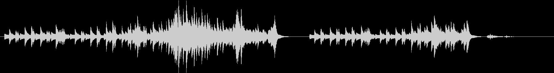 即興的でかっこいいピアノのオリジナル曲の未再生の波形