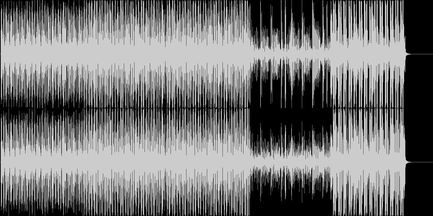 弾むセクシーな雰囲気のBGMの未再生の波形