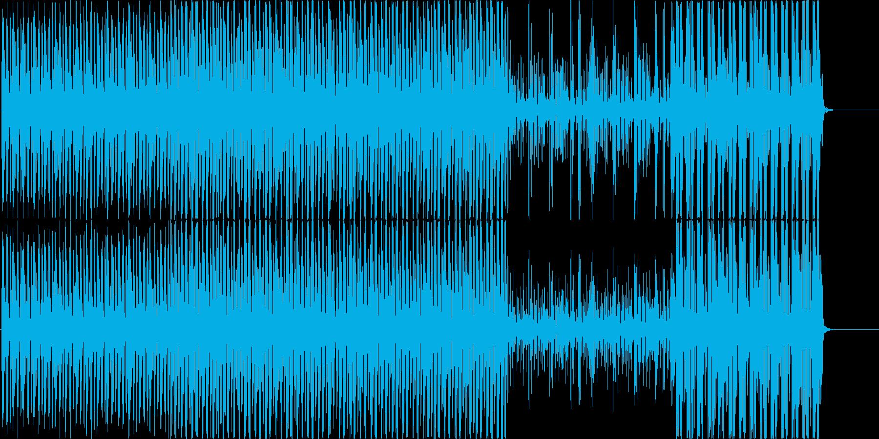 弾むセクシーな雰囲気のBGMの再生済みの波形