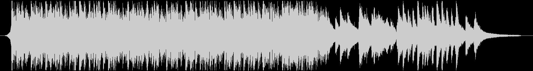 1分ジャストのさわやかピアノ&アコギの未再生の波形