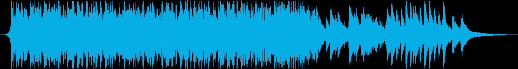 1分ジャストのさわやかピアノ&アコギの再生済みの波形