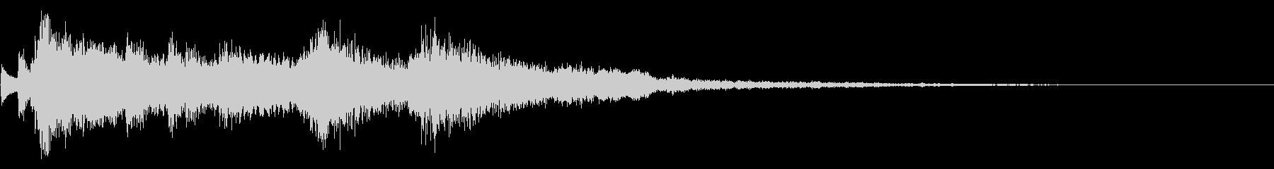 オーケストラのハロウィンジングルの未再生の波形