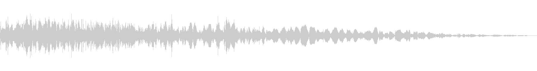 砕け散る音の未再生の波形