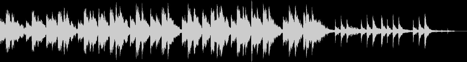 ピアノ中心の染み入るようなアンビエントの未再生の波形