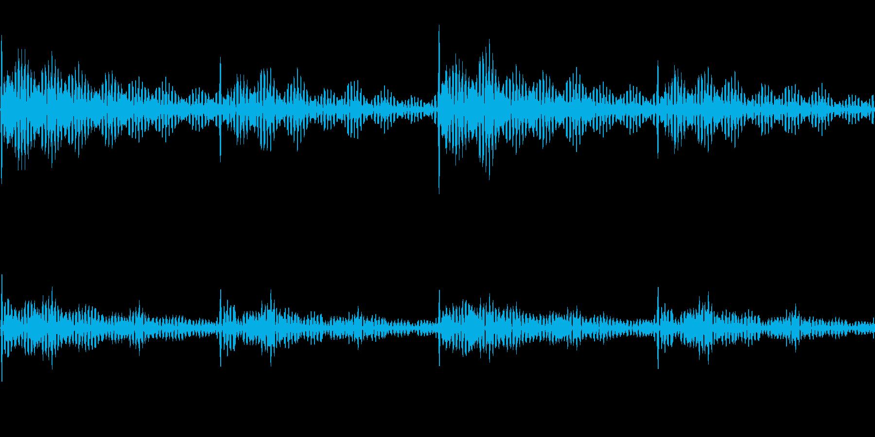 心音のような音の再生済みの波形