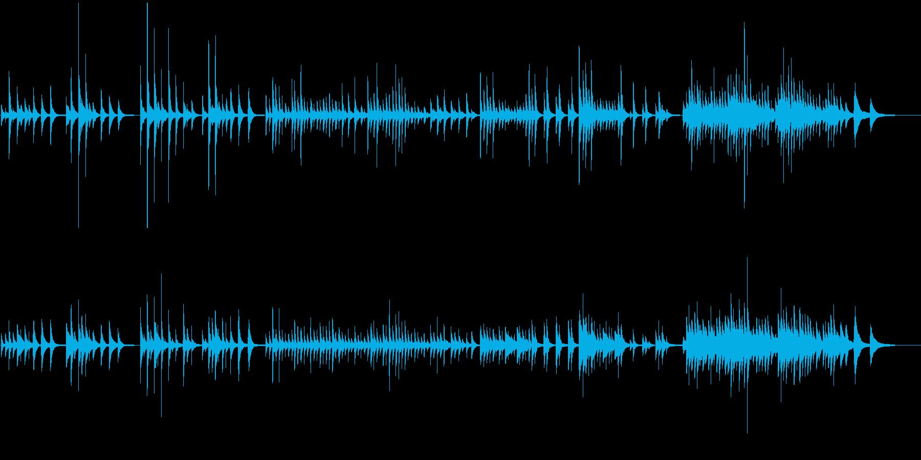 センチメンタルで緩やかなピアノバラードの再生済みの波形