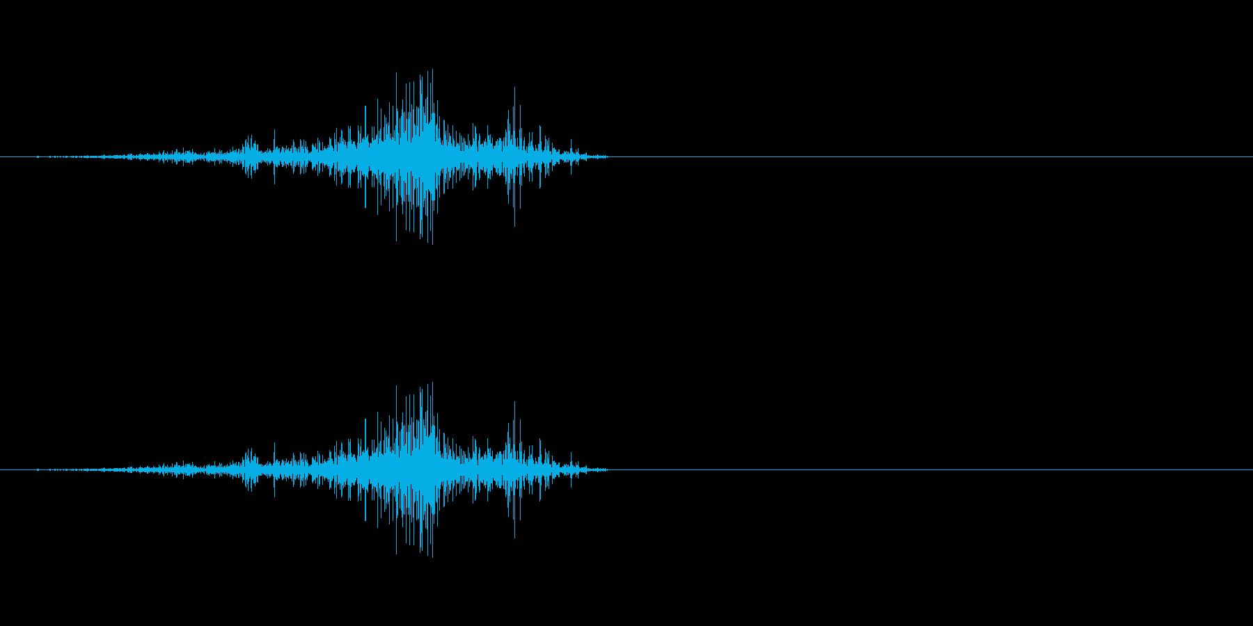 効果音、ページをめくる、ぺらっ、スワイ…の再生済みの波形