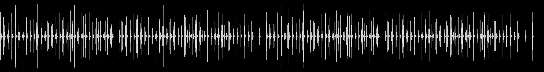 雪 シロフォンソロの未再生の波形
