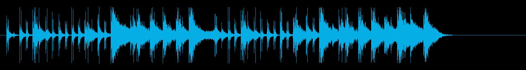 ファンキー&アップビートなリズムロゴの再生済みの波形