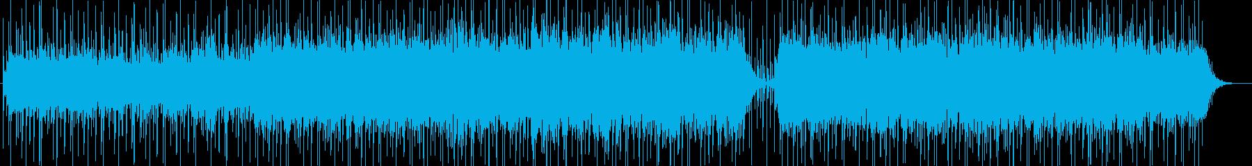 落ち着き・映像・解説・ナレーション用の再生済みの波形