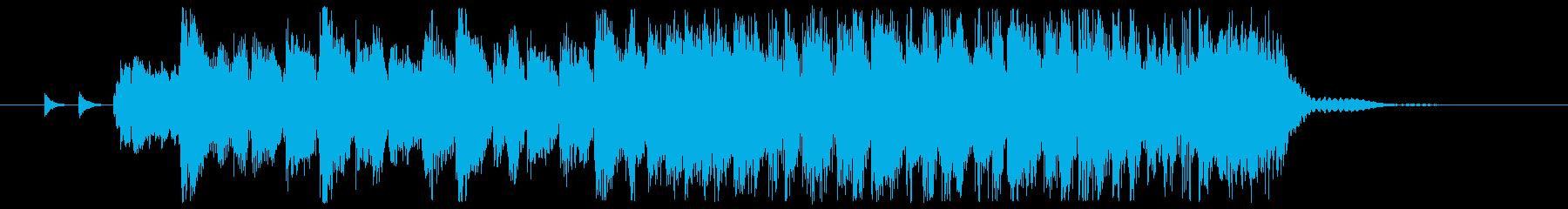 ギターとホーンセクションのロックジングルの再生済みの波形