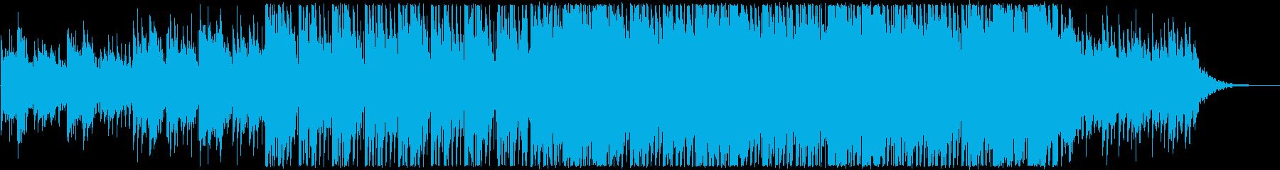 アコースティックギターとピアノをメインにの再生済みの波形