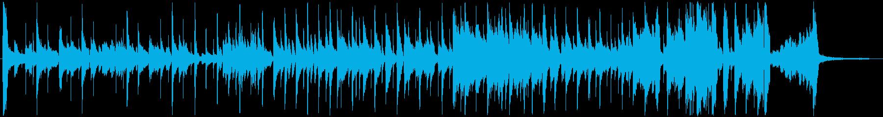 ほのぼのしたジャズ ゆるいコミカルな場面の再生済みの波形
