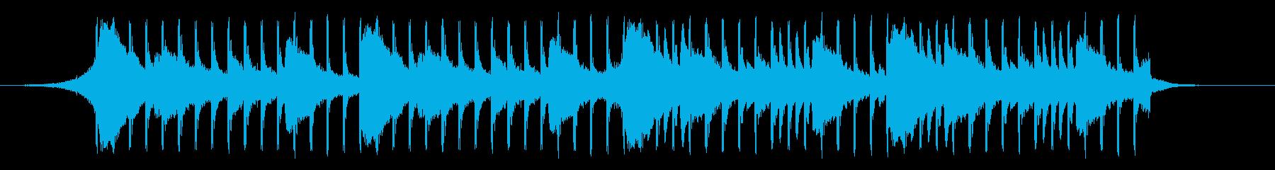 【爽やか】かわいい、軽快なBGMの再生済みの波形