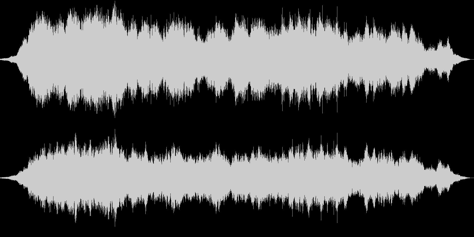 きれいなコードのアンビエントの未再生の波形