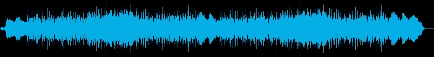 場面転換を行うクライマックステーマの再生済みの波形