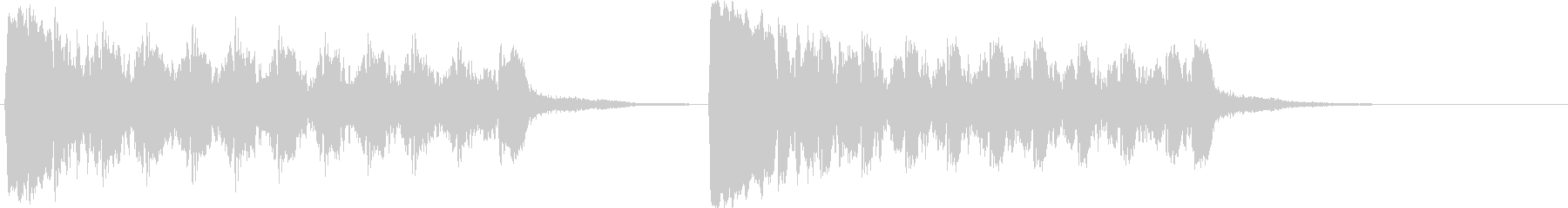 ショッキングシーン_トランペット1の未再生の波形